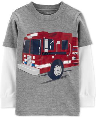 Carter's Carter Baby Boys Cotton Fire Truck Layered-Look T-Shirt