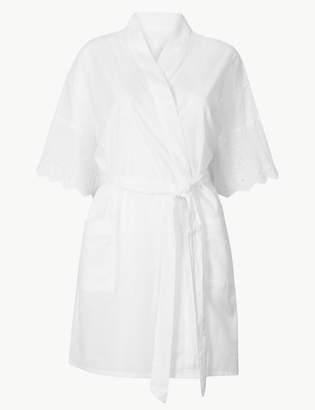 d9df759f0c Pixi M S CollectionMarks and Spencer Pure Cotton Wrap Short Dressing Gowns