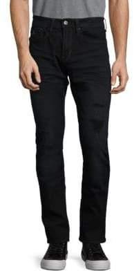 Buffalo David Bitton Mid-Rise Distressed Jeans