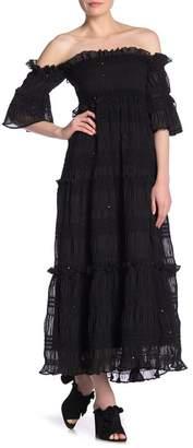 Kas Off-the-Shoulder Smocked Maxi Dress