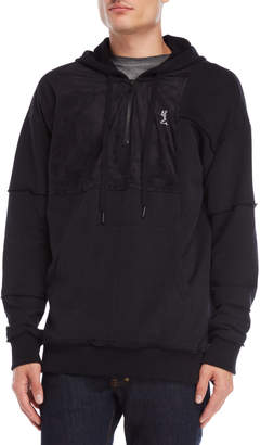 Religion Microsuede & French Terry Zip Hoodie