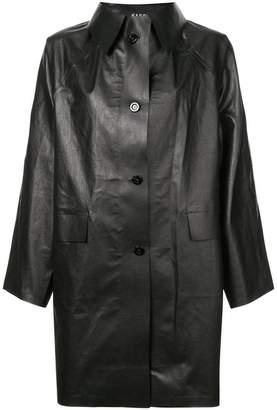 Kassl single breasted midi jacket
