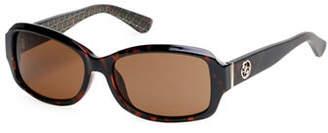 GUESS 55mm Rectangular Sunglasses