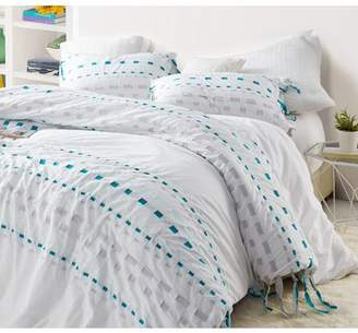 Byourbed Threads Textured Oversized Duvet Cover - Gray/Teal