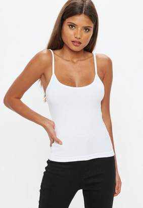 Missguided White Strappy Cami Top