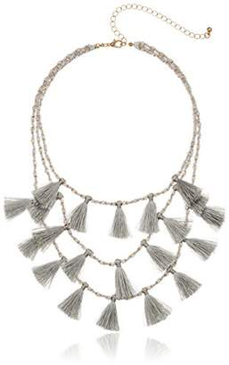 Panacea Layered Tassel Statement Necklace