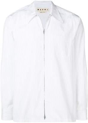Marni pinstripe zipped shirt jacket