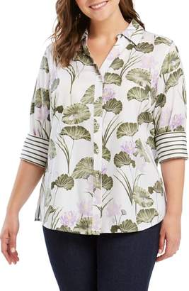 Foxcroft Mary in Waterlily Print Shirt