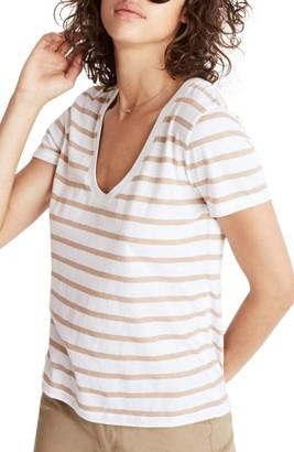 Women's Madewell Stripe Alto Scoop Tee $35 thestylecure.com