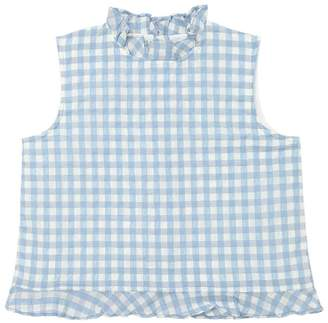 Gingham Taffeta Top