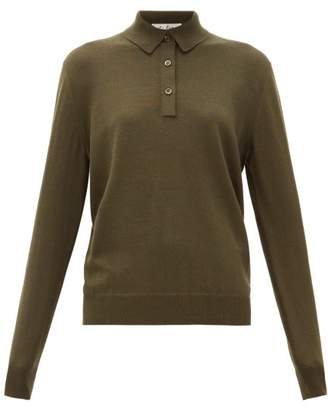 Giuliva Heritage Collection The Cassiope Cashmere Blend Polo Shirt - Womens - Dark Green