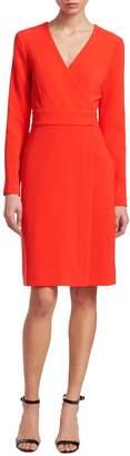 Diane von Furstenberg Women's Long-Sleeve A-Line Wrap Dress