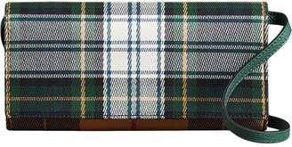 Burberry Tartan Cotton and Leather Wallet with Chain