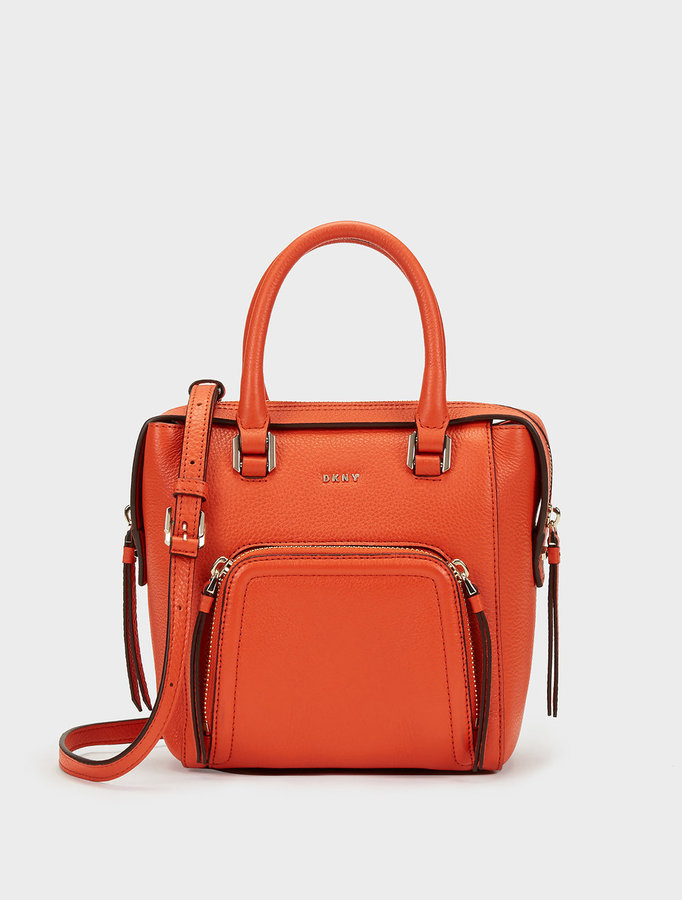 DKNY SMALL CHELSEA VINTAGE NORTH\u002FSOUTH SATCHEL