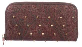 Etro Studded Paisley Continental Wallet