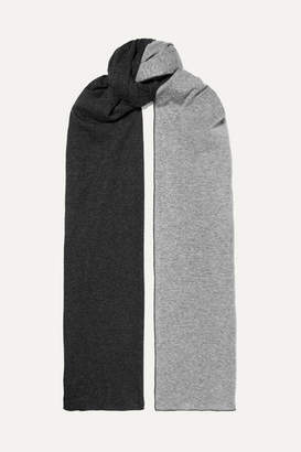 Majestic Filatures Danae Two-tone Cotton And Cashmere-blend Scarf - Gray