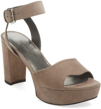 Stuart Weitzman Realdeal Suede Platform Sandal