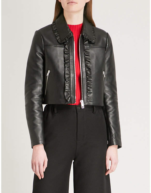 Bollant cropped leather jacket
