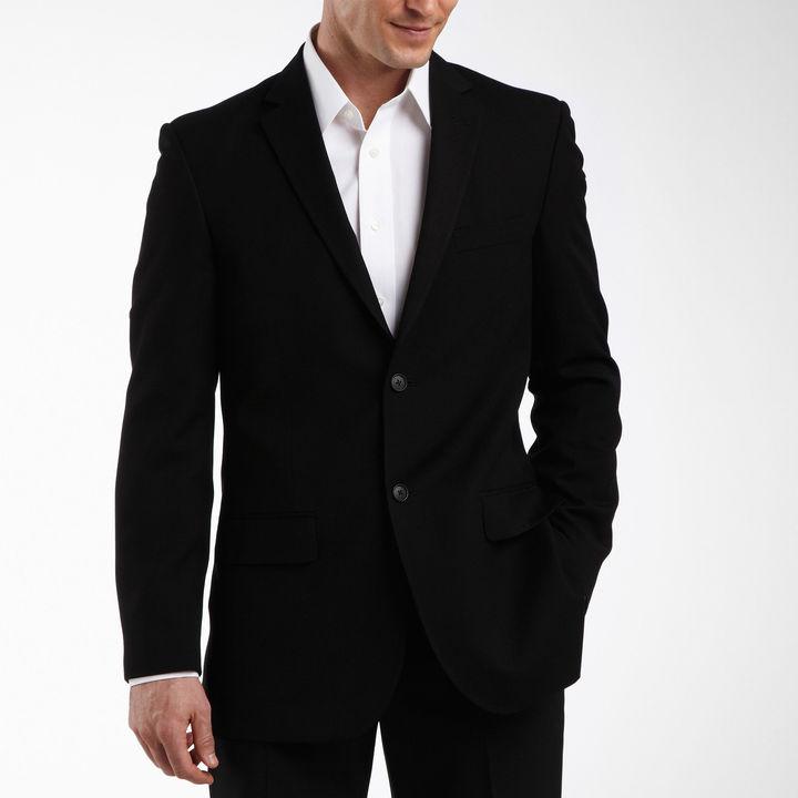 JCPenney JF J.Ferrar JF J. Ferrar 2-Button Black Suit Jacket