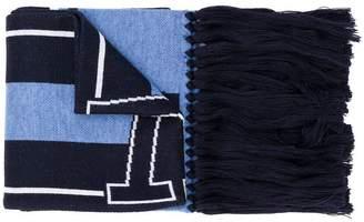 Versace striped scarf