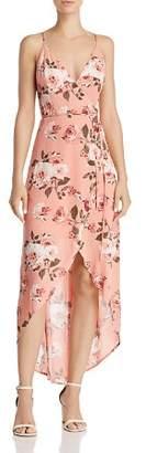 Cotton Candy Floral High/Low Wrap Dress