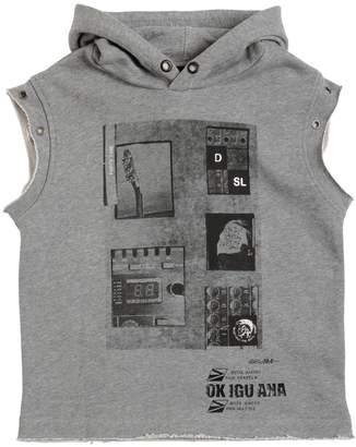 Diesel Hooded Cotton Sleeveless Sweatshirt