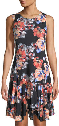 Cynthia Steffe Cece By Floral Handkerchief Dress