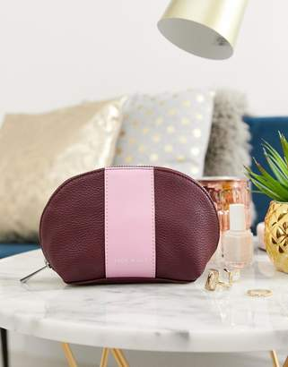 Jack Wills leather look cosmetic pouch