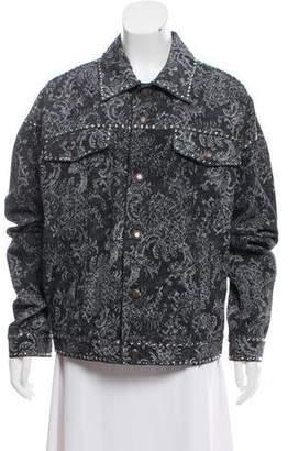 Marc Jacobs 2017 Rhinestone Embellished Denim Jacket