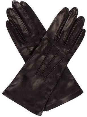 Saint Laurent Suede & Leather Gloves
