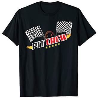 Vintage Checkered Flag PIT CREW Shirt Retro Race Car Gift