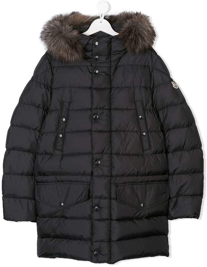 Moncler Kids TEEN hooded padded coat