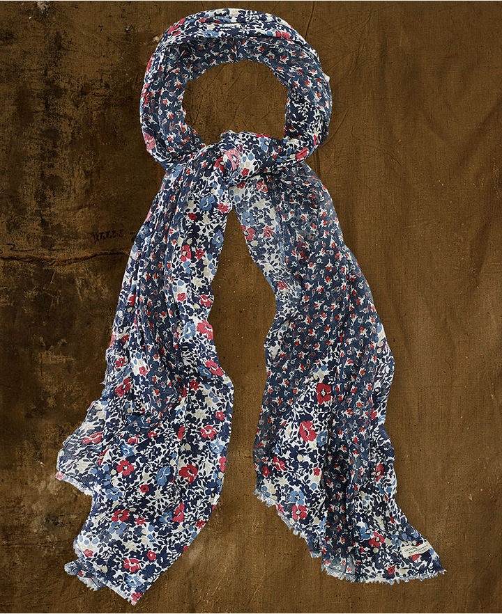 Denim & Supply Ralph Lauren Floral-Print Crinkle Scarf