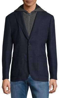 Saks Fifth Avenue Hooded Sportcoat