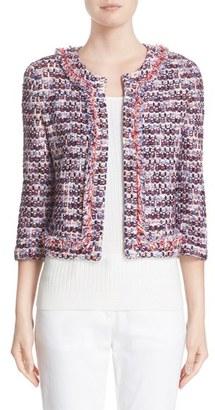 Women's St. John Collection Montserrat Tweed Fringe Jacket $1,495 thestylecure.com
