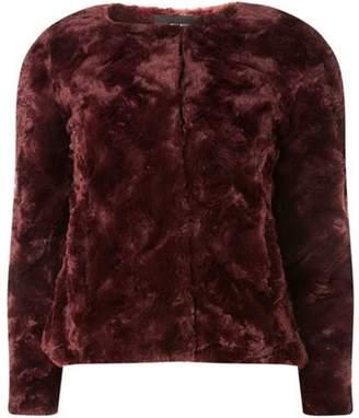 Dorothy Perkins Womens **Vero Moda Burgundy Faux Fur Jacket
