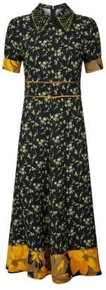 N°21 Embellished Floral Midi Dress