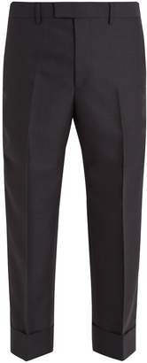 Gucci Contrast-striped wool trousers