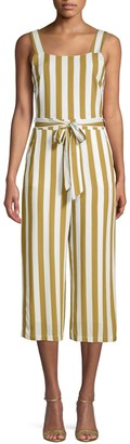 Charlie Holiday Striped Self-Tie Jumpsuit