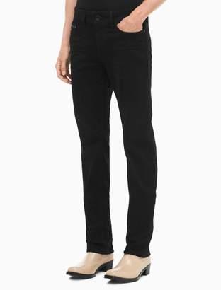 Calvin Klein slim straight worn black jeans