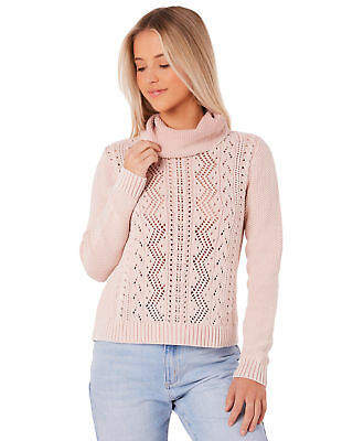 Element New Women's Rosebud Jumper Polyester Acrylic Pink