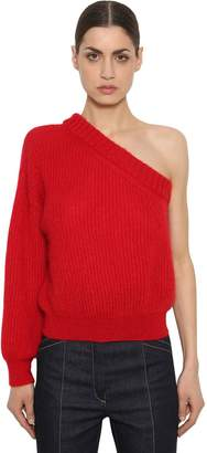 Nina Ricci One Sleeve Mohair Blend Knit Sweater