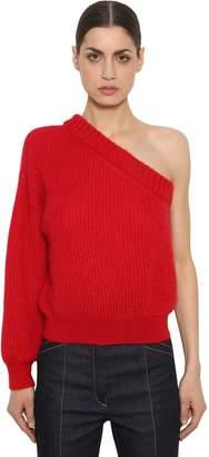 Nina Ricci One Sleeve Mohair Blend Knit Sweater