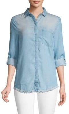 Frayed Button-Down Shirt