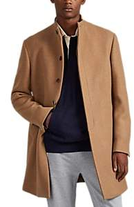 Barneys New York Men's Double-Faced Wool-Blend Slim Overcoat - Camel