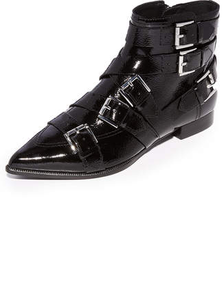 Ash Blast Buckle Booties $285 thestylecure.com