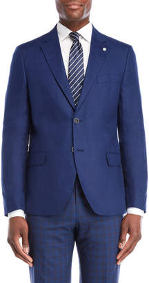 Nautica Bright Navy Briella Linen Suit Jacket