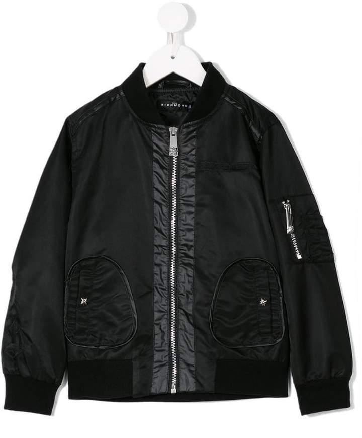 John Richmond Kids panelled bomber jacket