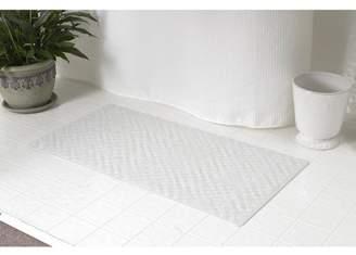 Carnation Home Fashions Medium (16'' x 28'') Slip-Resistant Rubber Bath Tub Mat in White