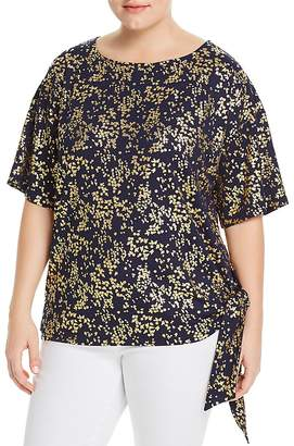 MICHAEL Michael Kors Metallic Floral Side-Tie Top